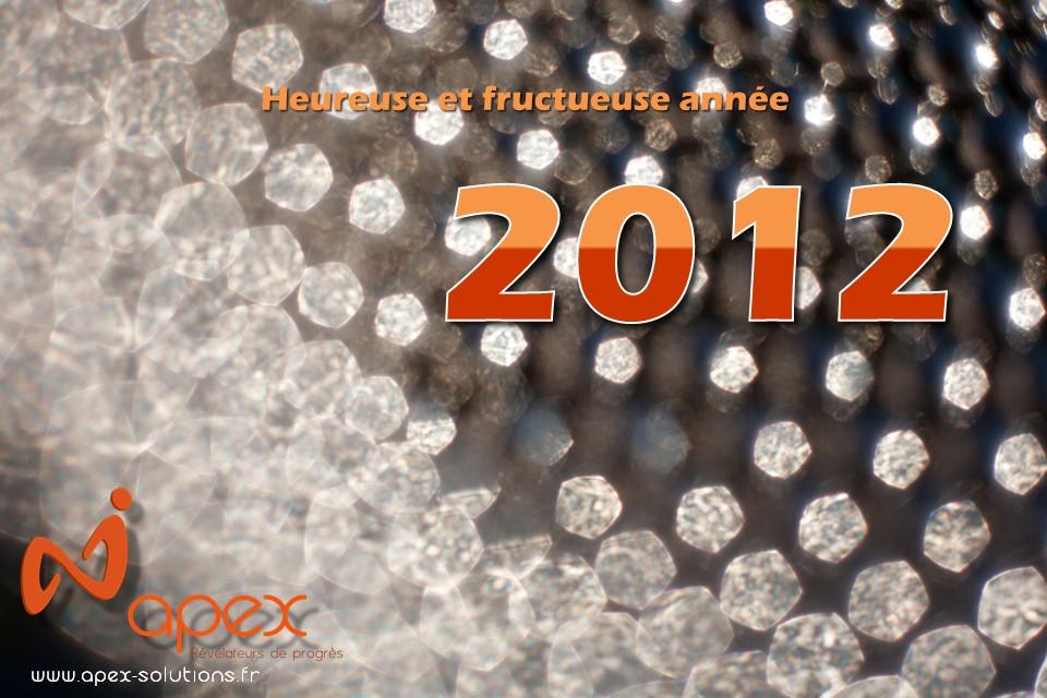 Apex vous souhaite une heureuse et fructueuse année 2012